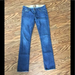 Rich & Skinny Straight Leg Distressed Jeans